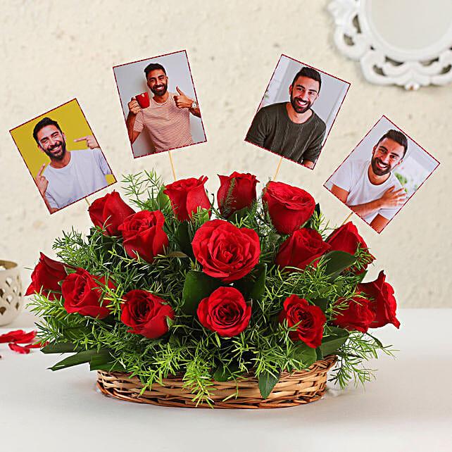Online Customised Red Roses Arrangement