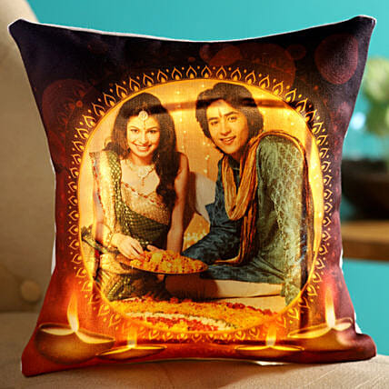 personalised led cushion for deepavali online