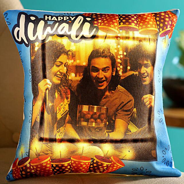 designer led cushion for diwali