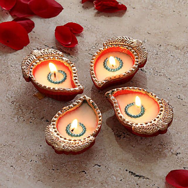 Elegant Set of Diwali Diyas:Lighting Accessories