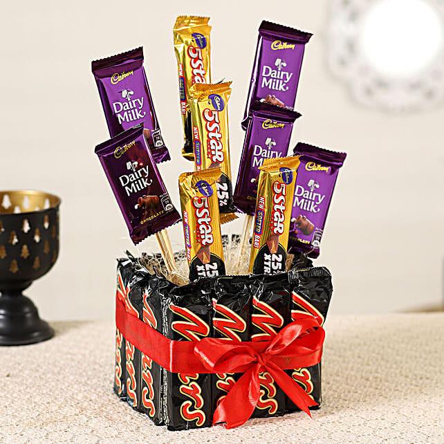 Chocolate Bars Arrangement Online