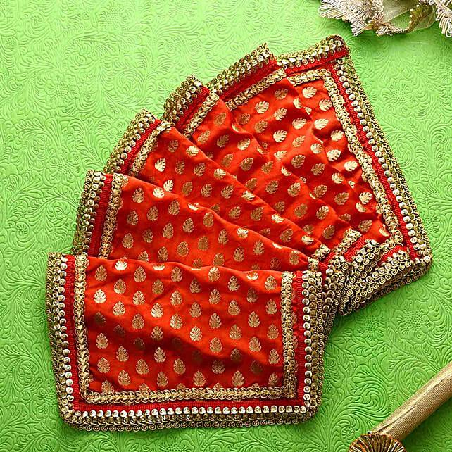 Navratri Special Red & Golden Chunri