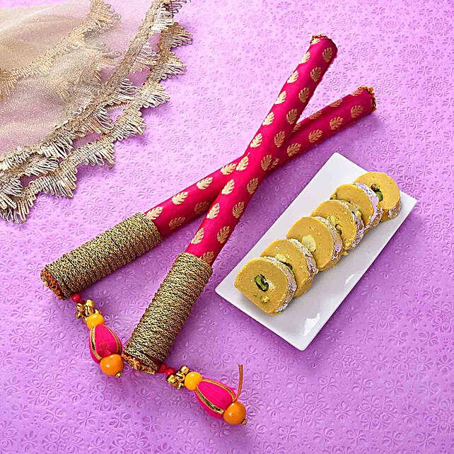 Stylish Dandiya Sticks & Batisa Slice Combo