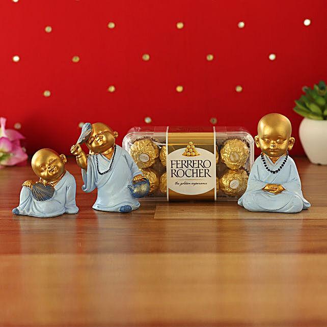 Cute Monk Idols & Ferrero Rocher Combo