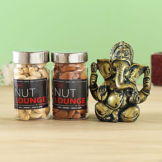 Raja Ganesha Idol & Nutraj Combo:Best Diwali Gift For Boyfriend