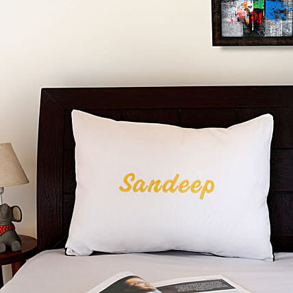 personalised embroidery pillow cover online:Personalised Pillow-covers
