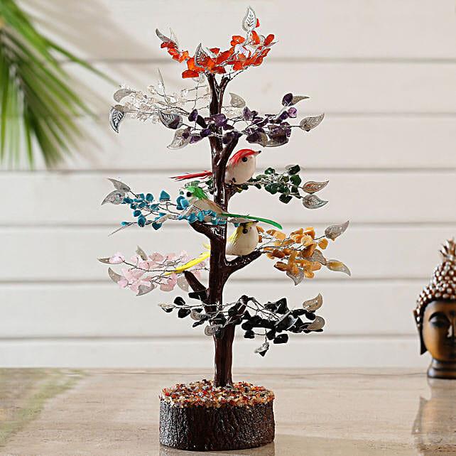Circle Of Life 8 Stones Wish Tree With Birds:Valentines Day Wish Trees