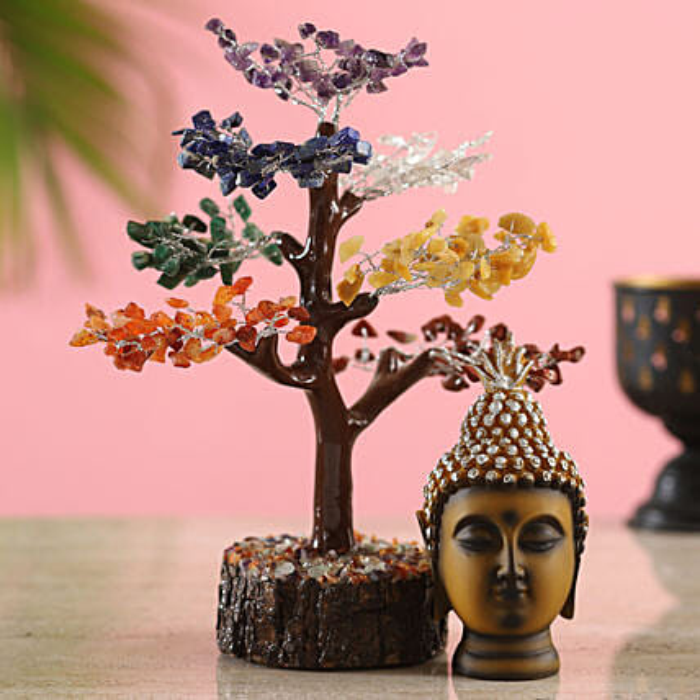 Cloudy Seven Chakra Wish Tree:New Year Gifts to Delhi