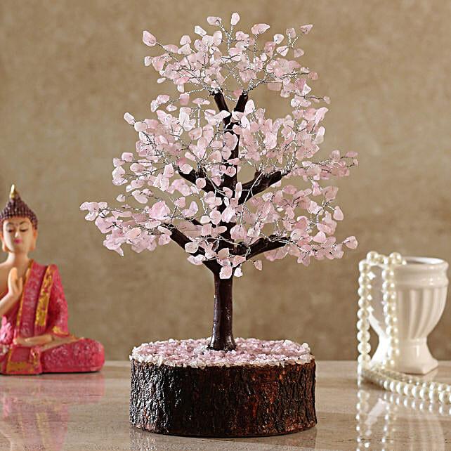 Majestic Rose Quartz Wish Tree:Send Valentines Day Wish Trees
