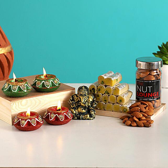 Grand Diwali With Antique Ganesha Idol & Almonds