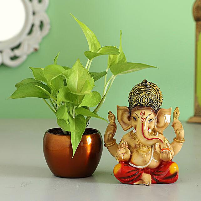 money plant n idol for diwali:Good Luck Plants for Diwali