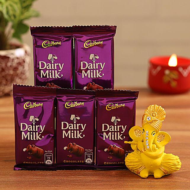 Send Ganesha Idol and Dairy Milk:Idols