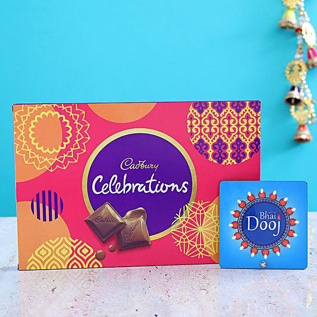 Table Top And chocolate hamper:Send Bhai Dooj Combos