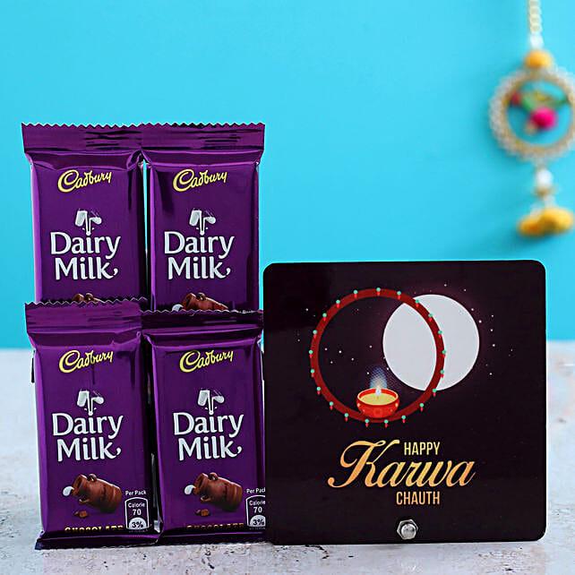 Karwa Moon Table Top & Dairy Milk Chocolates Combo