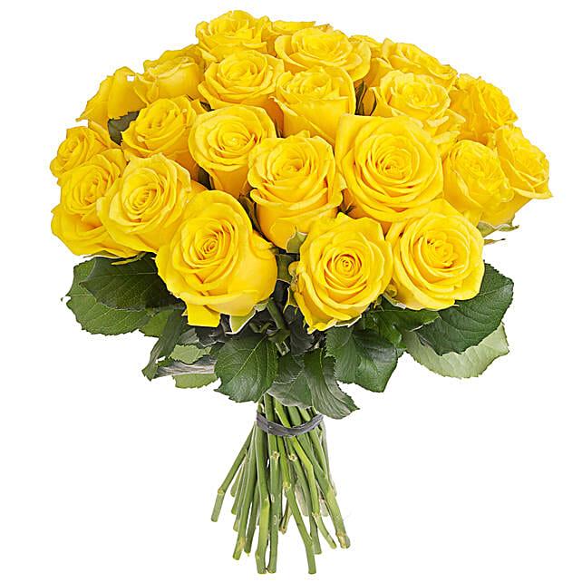 Sunshine Yellow Roses Bunch