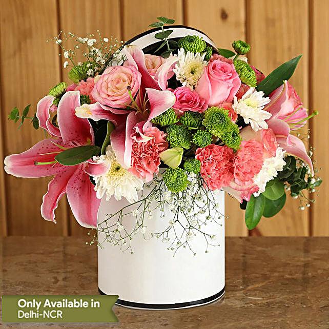 online beautiful flower in round box
