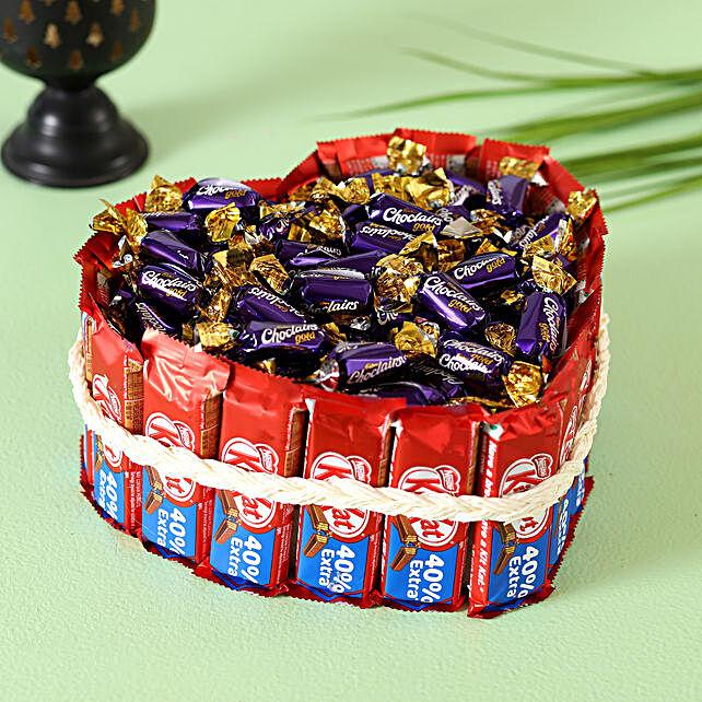 Kitkat Choclairs Heart Pie