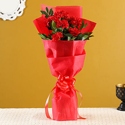 Order Online Red Carnations Bunch