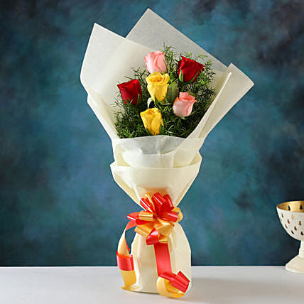 Send Mixed Love Roses Bunch
