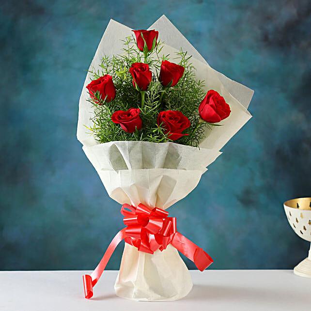 Buy Online Red Roses Bunch