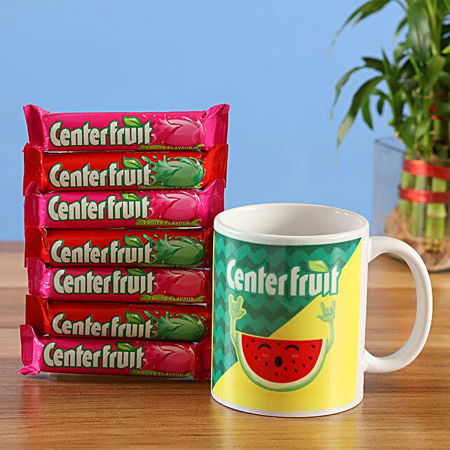 center fruit chewing gum mug combo