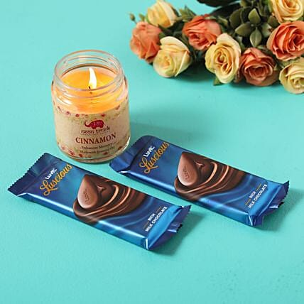 luscious chocolates cinnamon candle combo