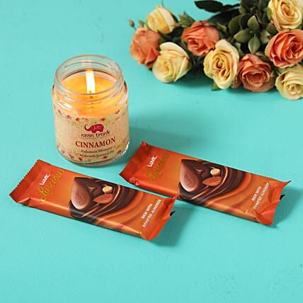 luscious roasted almonds cinnamon candle combo