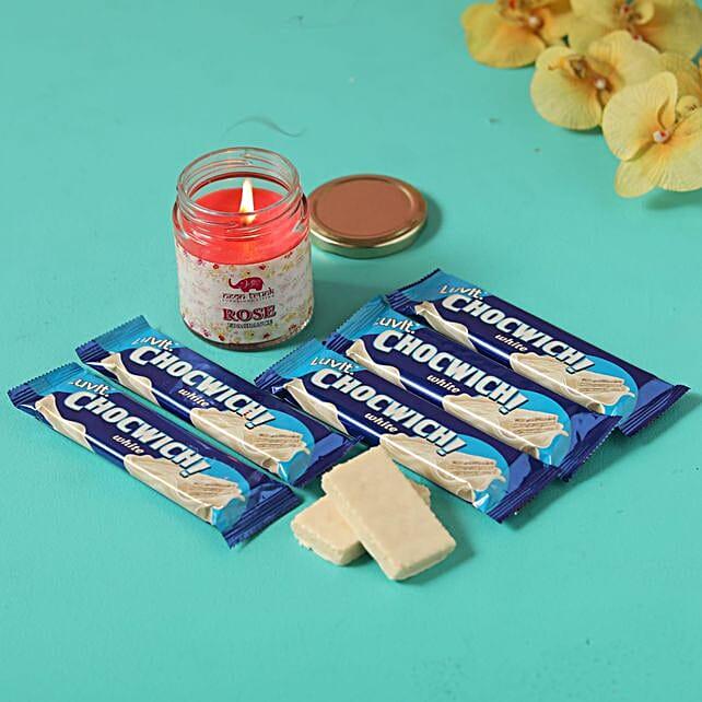 luvit chocwich rose candle combo