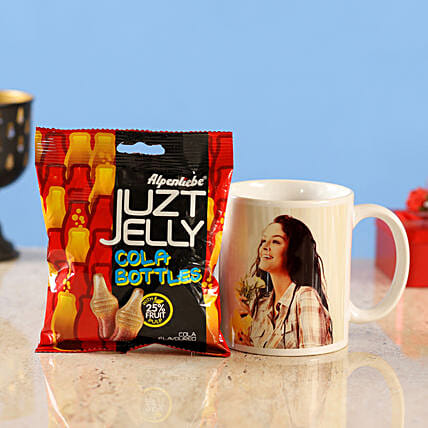 personalised mug juzt jelly cola bottles candy:Candies