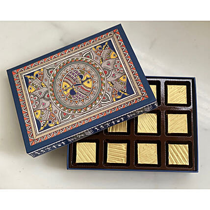 fudges in attractive indian art box
