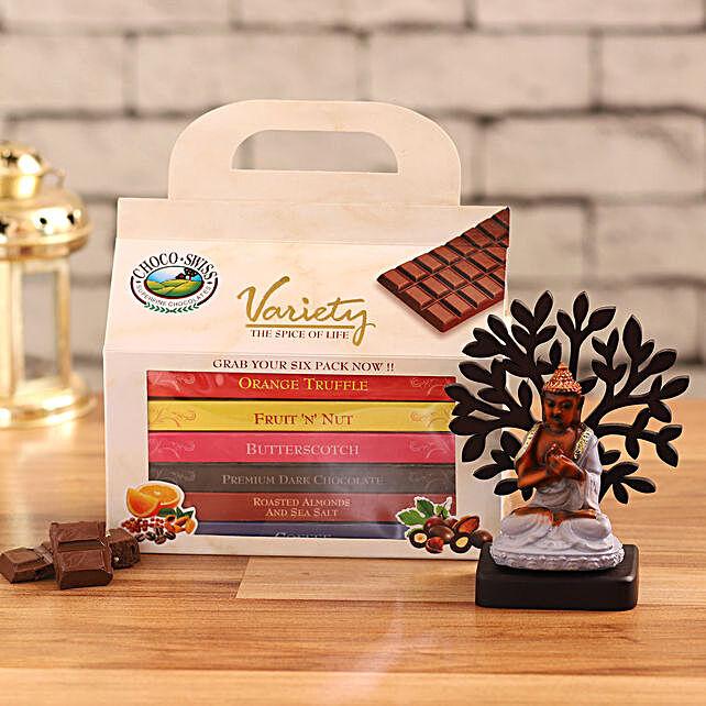 choco swiss assorted chocolates buddha idol combo