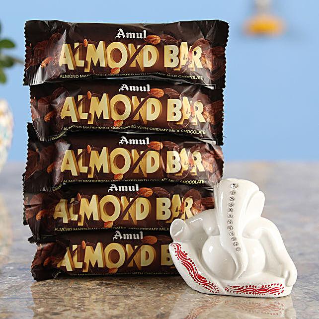 Online Five Almondo Chocolates & Ganesha Idol Combo
