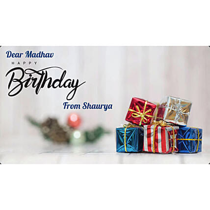 Happy Birthday Little Boy Personalised Video:Personalised Video Messages