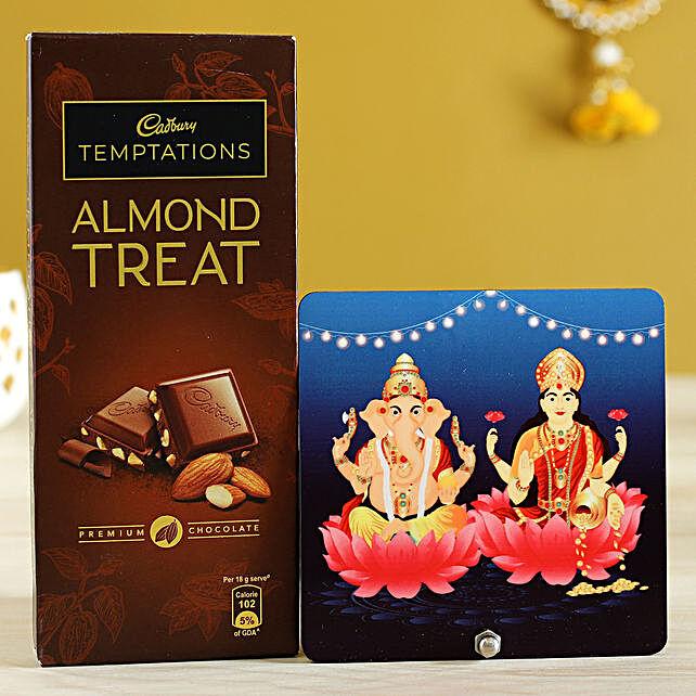 Lakshmi Ganesha Table Top & Almond Treat:Diwali Chocolates