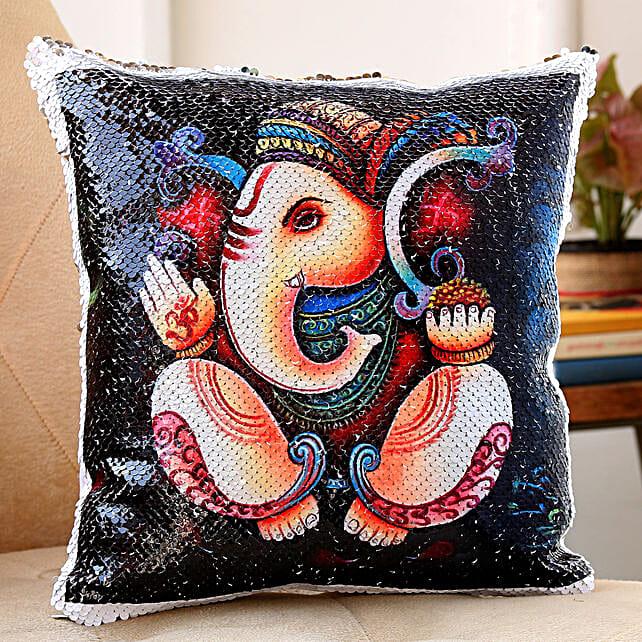 ganesha printed cushion for diwali:Diwali Cushions