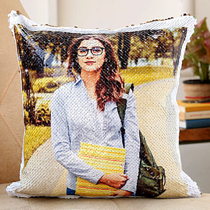 sequin cushion for her:Singles Day Gifts