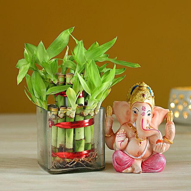 lucky bamboo with ganesha idol online