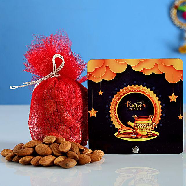 Karwa Chauth Stars Table Top Almonds Combo