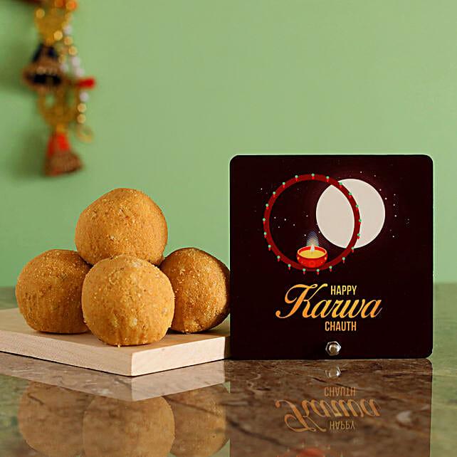 Karwa Moon Table Top With Besan Laddu