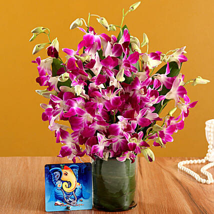 Online Blissful Ganesha Table Top And  Vase