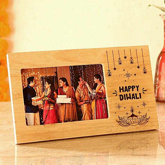 happy diwali personalised photo frame online