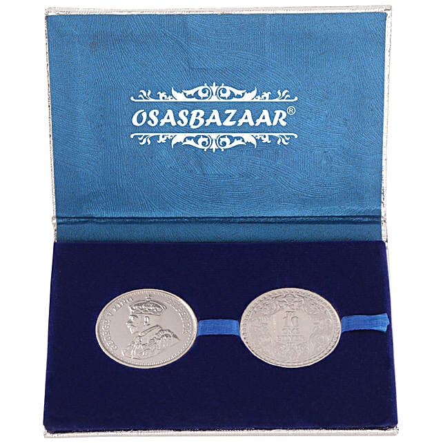 2 round silver coin set