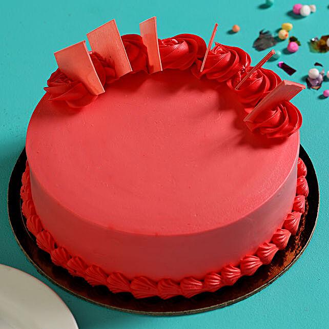 Online Red Strawberry Sponge Cake