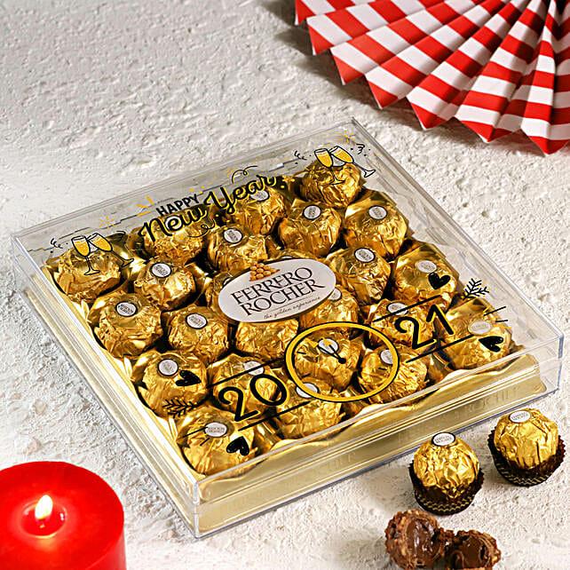 New Year Printed Ferrero Rocher Box- 24 Pcs