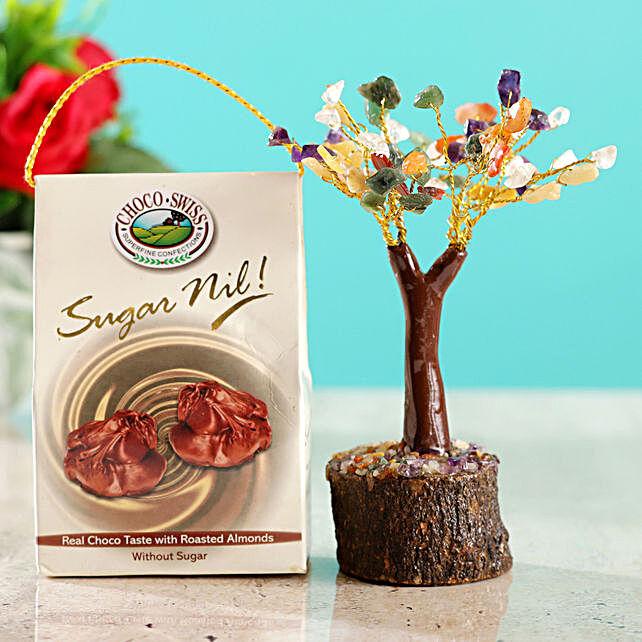 Colourful Stone Wish Tree & Roasted Almond  Chocolates