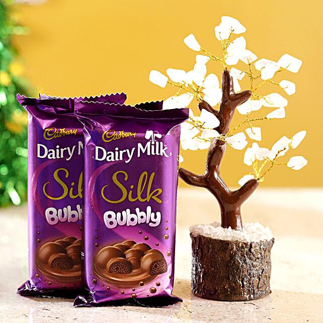 Rose Quartz Wish Tree & Cadbury Silk Bubbly