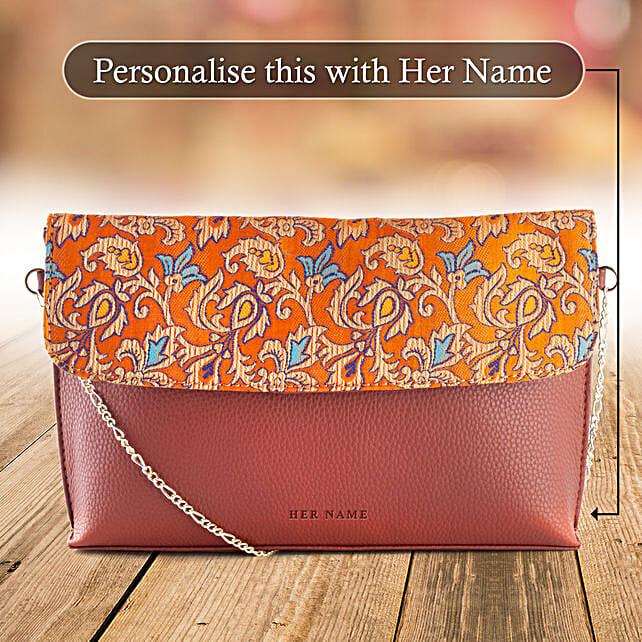 Personalised Handloom Sling Bag