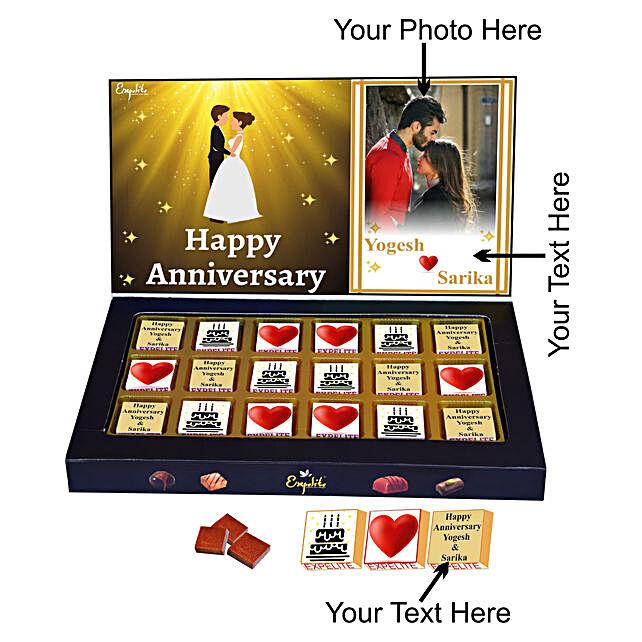 Order Happy Anniversary Personalised Chocolate Gift
