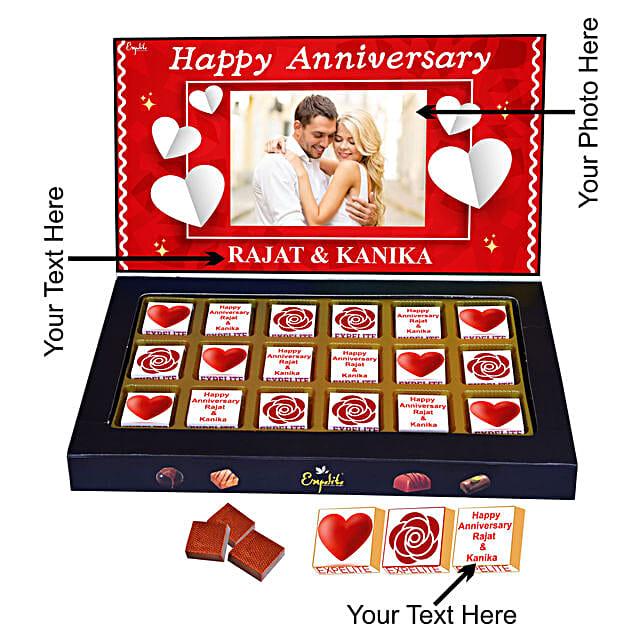 Buy Online Customised Anniversary Chocolate