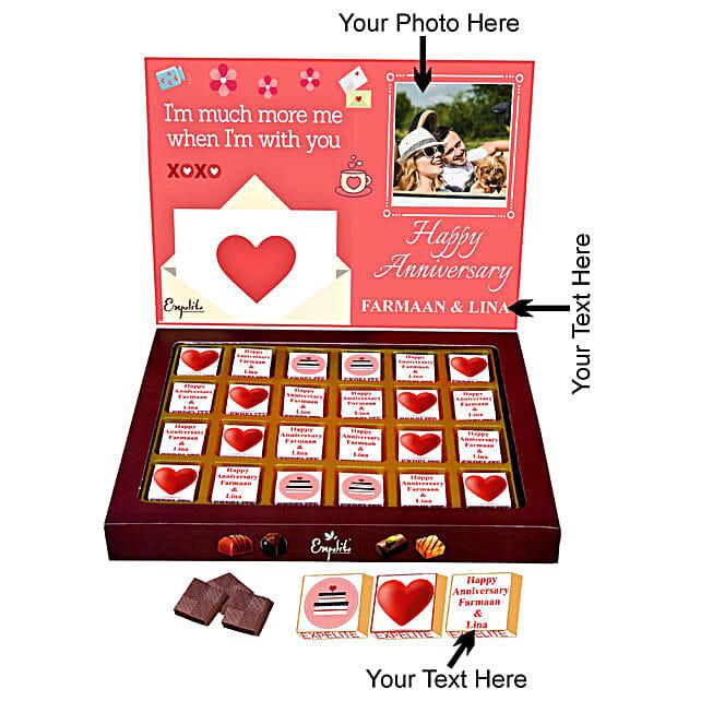 Personalised Anniversary Chocolate Online